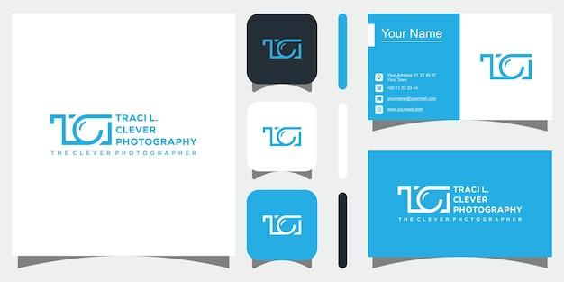 Photography logo in black color premium vector
