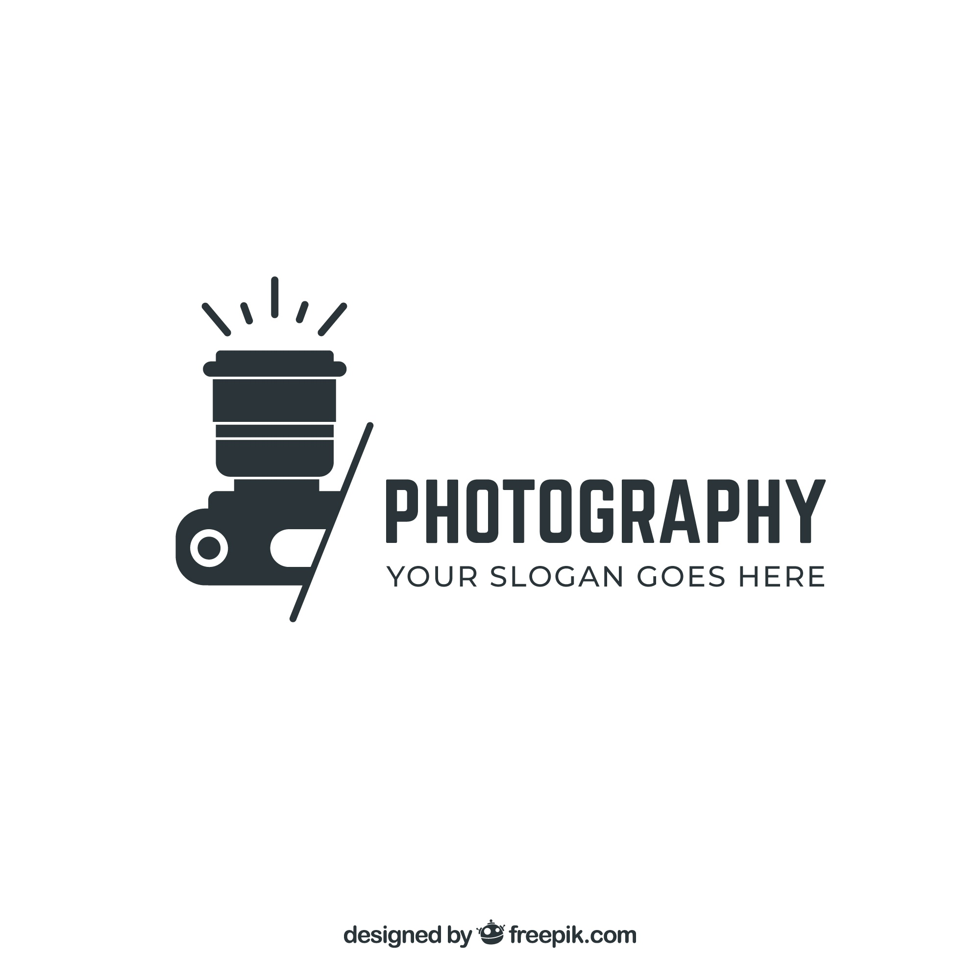 Photography logo in black color