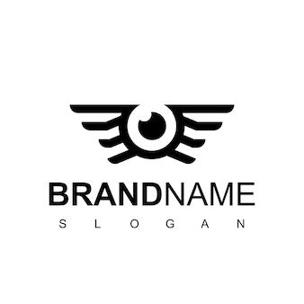 항공 사진 기호에 대 한 눈과 날개가 있는 사진 로고