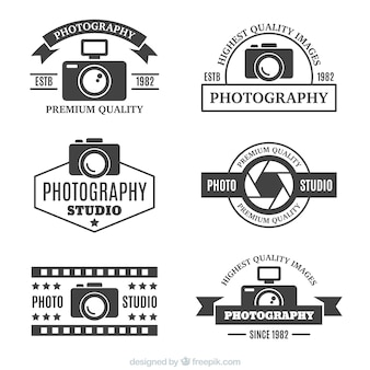 Photography logotypes in retro style