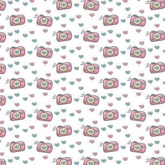 Photography machine pattern heart