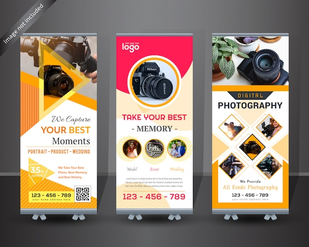 Photography roll up banner design
