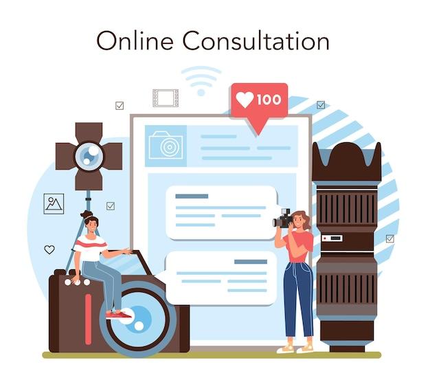 Онлайн-сервис или платформа для школьного клуба фотографии или курсов