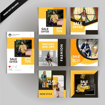 Photography social media post template