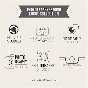 Photography studio logos collection