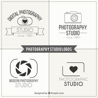Photography studio logos pack