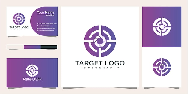Photography target logo design and business card