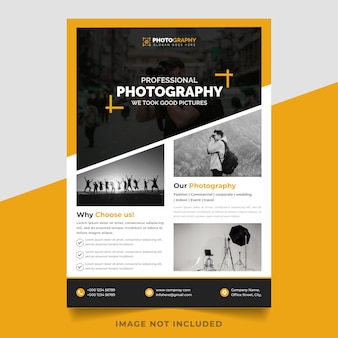 Photography vector new flyer template