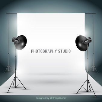 Photogtaphy studio in realistic style