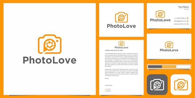 Photolove логотип и визитная карточка
