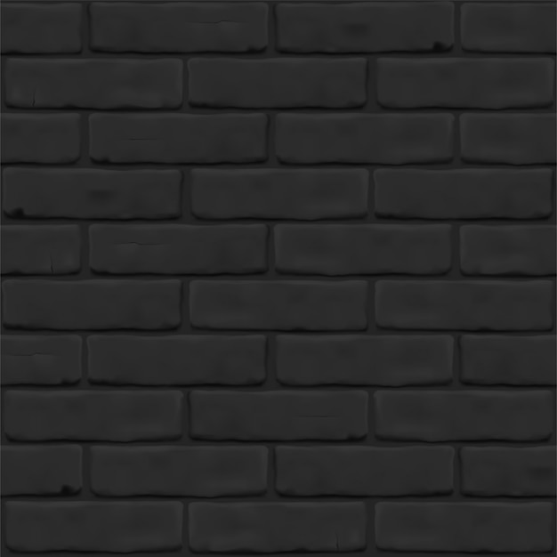 Photorealistic texture of black brick wall as background. masonry close up for exterior, interior, website, backdrop. seamless  pattern.