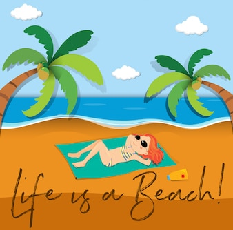 人生のためのフレーズ表現はビーチです
