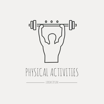 Physical activity icon. modern thin line icons set.  flat design web graphics elements.
