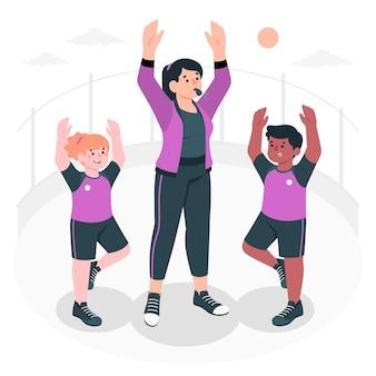 Illustrazione del concetto di educazione fisica