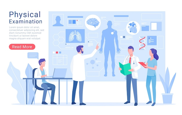 Обследование физической системы и иллюстрация лечения