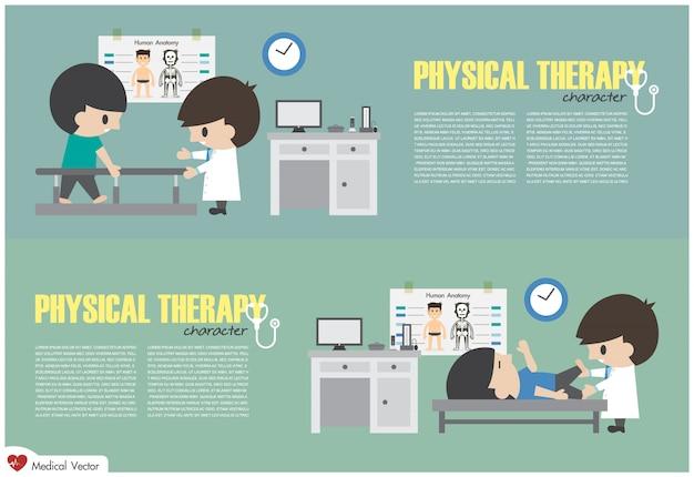 Центр физической терапии. физиотерапевт реабилитирует больного в больнице
