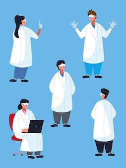 Профессиональный персонал врачей в очках
