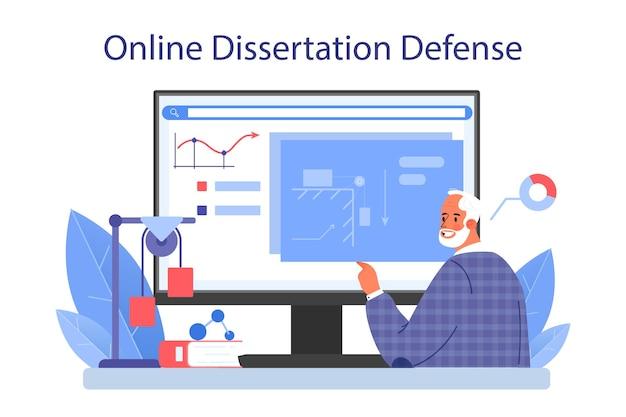 物理学者のオンラインサービスまたはプラットフォーム。科学者は波と力を探求します。理論的および実践的な研究。オンライン論文防衛。孤立したベクトル図