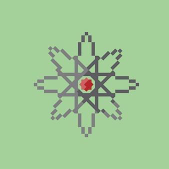 Значок физики в стиле пиксель-арт