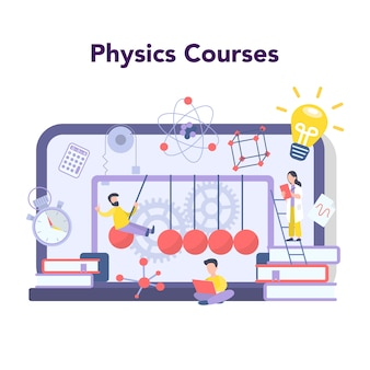 Physics school subject online education service or platform