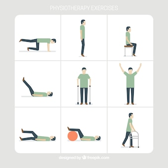 Physiotherapy exercise collection