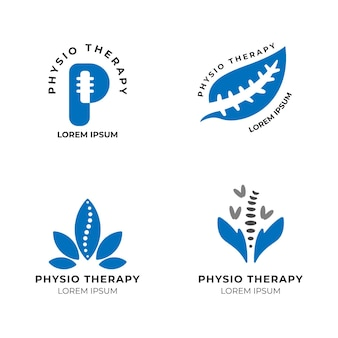 Physiotherapy logo template collection