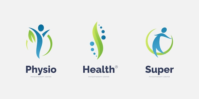 Коллекция шаблонов логотипа физиотерапии
