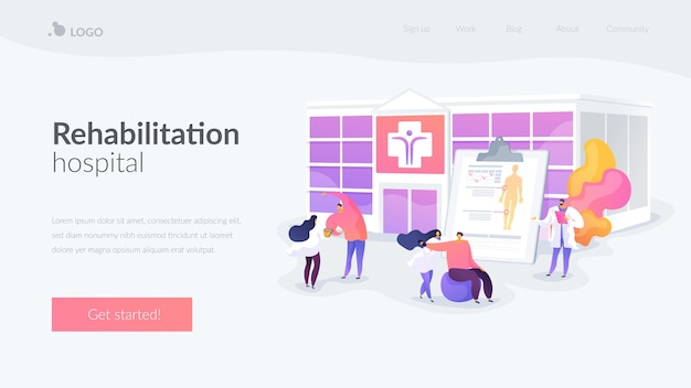 Physiotherapy and rehab clinic landing page template