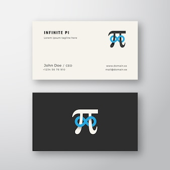 Pi symbol with infinity sign abstract sign