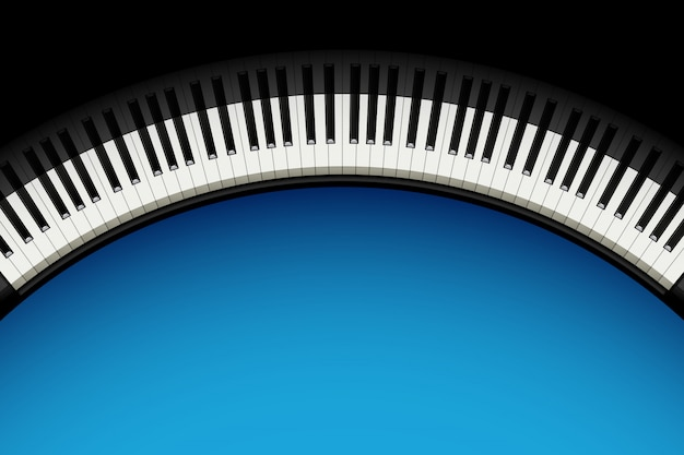 Piano background with copyspace