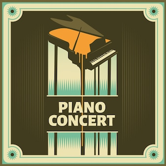 Piano concert background