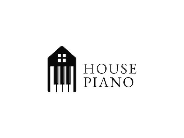 Piano house logo design concept