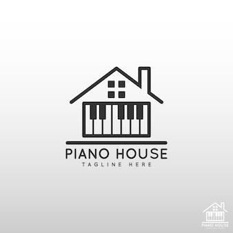 Piano house logo - логотип музыкального образования