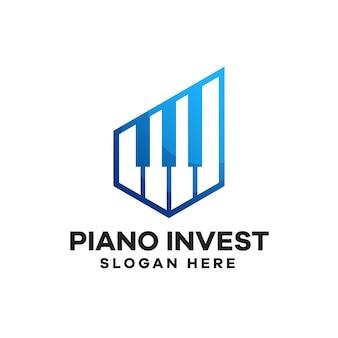 Piano investment gradient logo design