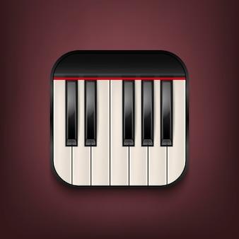 피아노 키보드 아이콘입니다.