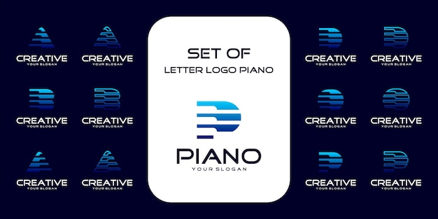 Piano logo collection with initial concept. reference logo