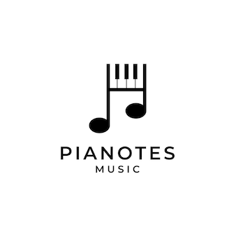 Piano music note logo