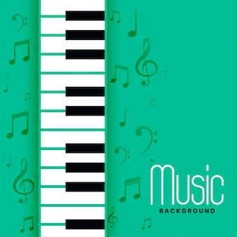 Piano and musical notes melody background