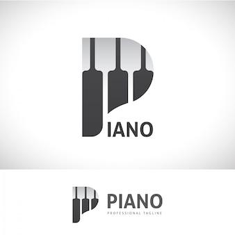 Piano p letter logo