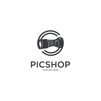 Pic shop camera photographer logo