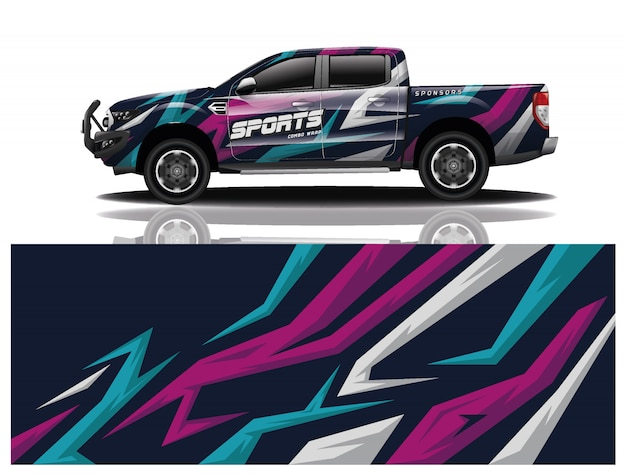 Pick up car decal wrap