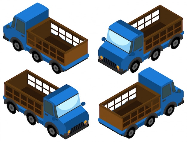 Pick up truck in blue color
