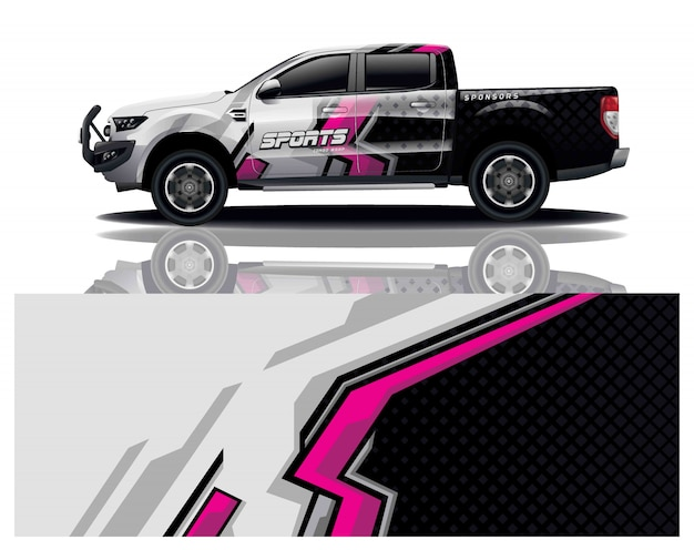 Pick up truck decal wrap