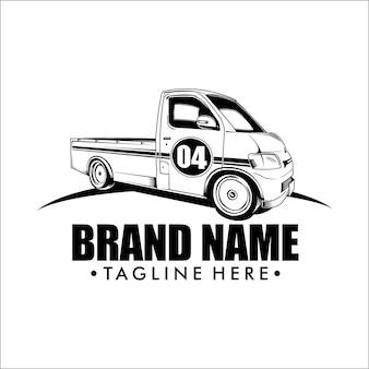 Шаблон логотипа пикап