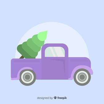 Pick-up con albero di natale