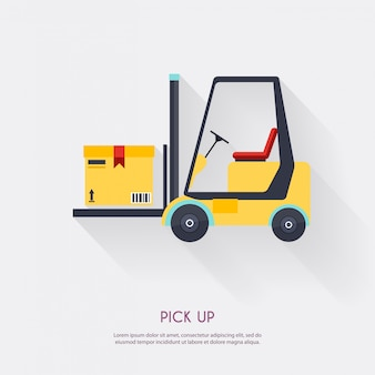 Pick up. warehouse icons logistic blank and transportation, storage   illustration.