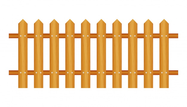 Picket fence, wooden textured, rounded edges.