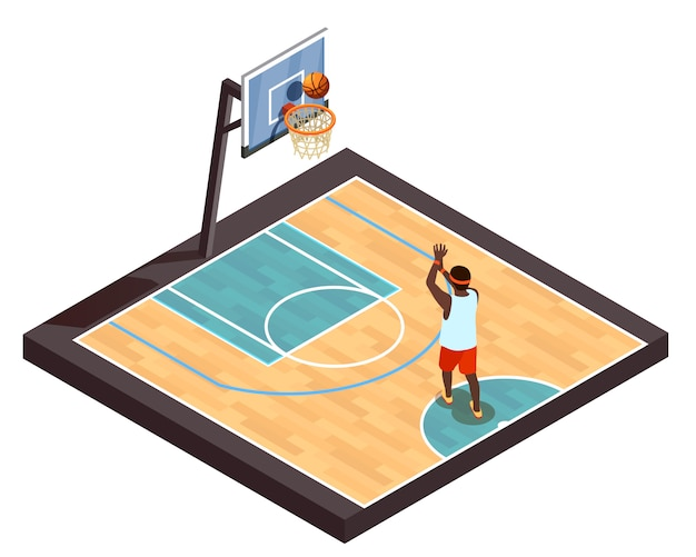 Pickup ball isometric composition