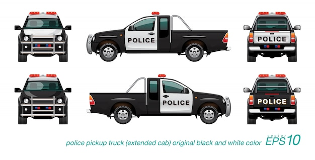 Pickup police car