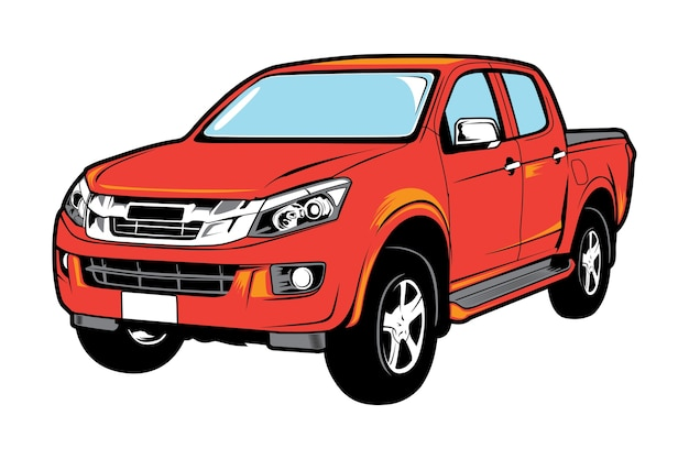 Pickup truck cartoon